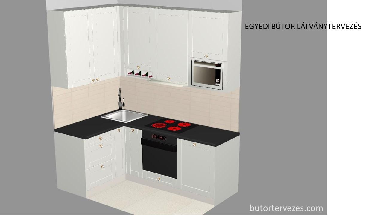 Egyedi konyhabútor festett fehér small