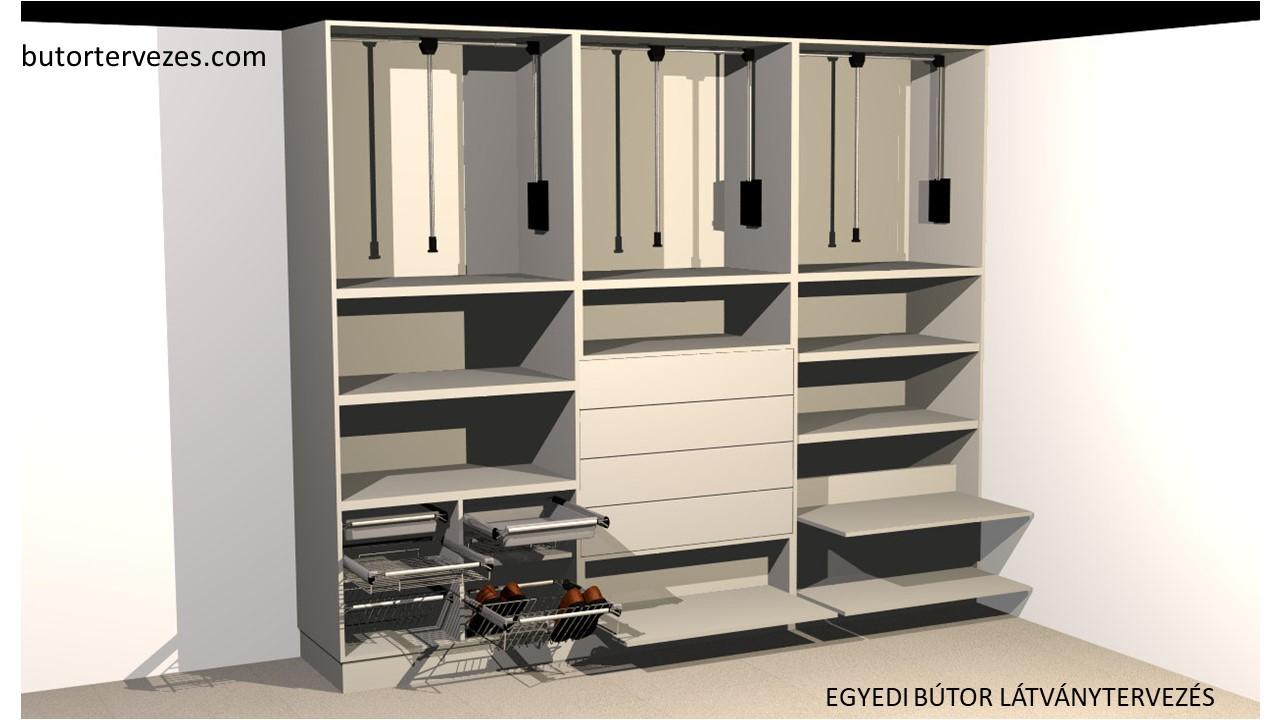 Egyedi gardrób bútor belső látványterv 1
